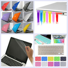 4in1 Matte Hard Cut-Out Case Frosted Cover Skin for MacBook AIR 11/ PRO 13 15