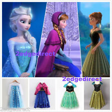 FROZEN ANNA ELSA PRINCESS DISNEY KIDS COSTUME FANCY PARTY DRESS XMAS GIFT