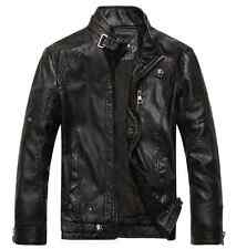 HOT! 2014 NEW Fashion Men's leather motorcycle coats jackets washed leather coat