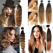 """Best sell!Brazilian Ombre Human Hair Extension 12""""-30"""" Style Hot 3tone 1b33#27#"""