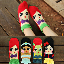 1 Pair of Disney Princess/Girls Womens Ankle Socks