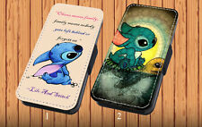 Lilo And Stitch Quote - Faux Leather Flip iPhone & Samsung Galaxy Cover Case