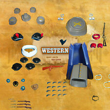 PLAYMOBIL  WESTERN  SPAIR PARTS * BUILD * figures  soldiers north English COWBOY