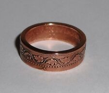 Coin Ring handmade from 100 year old Canadian large cent  6-13