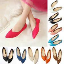 Women Pointed Toe Loafers Casual Suede Ballet Flat Driving Ballerina Pumps Shoes