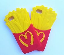 Fashion 3D French fries soft Silicone Case Cover For VARIOUS Mobile Phones