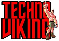 Men's Funny T-Shirt, Techno Viking 3, Ideal Birthday Present or Gift