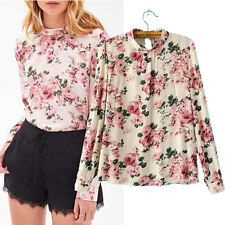 Girl Autumn Fashon New Floral Pullover Cotton Blouses
