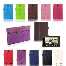 """PU Leather Folio Holder Cover Case for Acer Iconia One 7 B1-730 7"""" Tablet Top"""