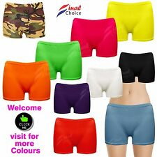 Womens Ladies Girls Neon Lycra Stretchy Sexy Hot Pants Dance Party Casual Shorts