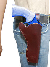 "NEW Barsony Burgundy Leather 49-er Style Gun Holster Dan Wesson EAA 6"" Revolvers"