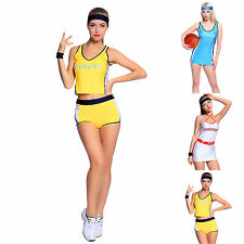 Sexy High School Girl Basketball Player Outfit Cheerleader Fancy Dress Costume