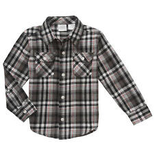 Koala Kids Boys' Plaid Flannel Long Sleeve Button Down Shirt - Toddler