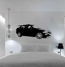 XL Large Car Ford Escort Cosworth Bedroom Free Squeegee! Wall Art Decal Sticker