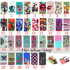 For LG Cute Magnetic Pattern Wallet PU Leather Stand Card Holder Flip Case Cover