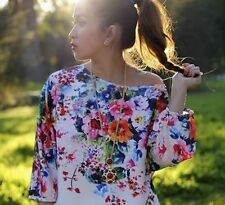 ZARA bnwt dress tunic shift floral print flowers  Sold Out  bloggers new XS S