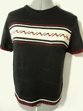 Nwt WRANGLER RIATA Embroidered Sweater top womens S,L Black Red western short sl