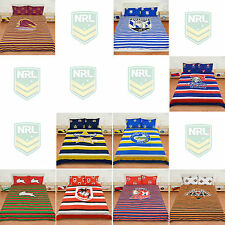 NRL Rugby League Team Duvet Doona Quilt Cover Set - Single Double Queen Size Bed
