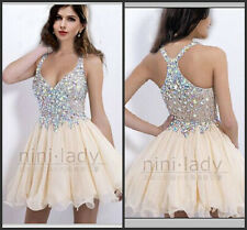 Homecoming Short Mini Beaded Party Gown Evening Prom Cocktail Dresses Size 6-16