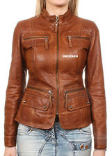 Custom Made Ladies Leather Jacket Giacca in Pelle da Donna Jaquette Joppe LJF38