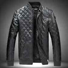 2014 Hot sale fashion Mens Motorcycle jacket winter thicken PU leather warm coat