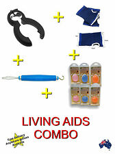 Daily Living Aids Combo + Squeeze Ball + Anti-slip Glove + Zipper Aid