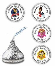 PAW PATROL BIRTHDAY PARTY FAVORS KISSES CANDY LABELS STICKERS DECALS