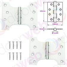 PARLIAMENT DOOR HINGES Strong Heavy Duty Pair in POLISHED SATIN CHROME BRASS