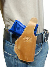 New Barsony Tan Leather OWB Belt Holster for CZ, EAA Compact, Sub-Comp 9mm 40 45