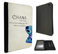 Ohana Family Quote Cool Kindle Fire Hd 7'' HDX 7'' Case Leather Flip cover