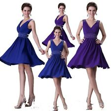 Sexy V Neck Bridesmaid Mother of the Bride Evening Prom Party Short Club Dress