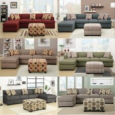 Modern sectionals sofa couch - 6 Colors 2 Pc Living room furniture sofa chaise