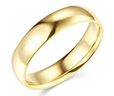 Solid Real 14K Yellow Gold Wedding Anniversary Band Ring Comfort Fit Mens Womens