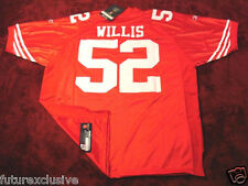 #52 PATRICK WILLIS SAN FRANCISCO 49ERS RED NFL SEWN JERSEY - CHOOSE SIZE