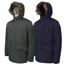 Fur Lined Hooded Parka N3B Style Mens Womens Winter Cold Weather Jacket Coat