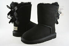 Kids UGG Australia Bailey Bow 3280K Black Sheepskin 100% Authentic Brand New