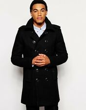 Superdry Mens Bridge Coat Black New Royal RRP £135