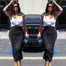 Womens Bodycon Slimming Illusion Bandage Two Piece Crop Top and Skirt Dress Set