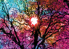 PsychedelicTrippy 2 Tree GIANT Art Tiled Print Poster, Various sizes from A3