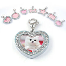 Pet ID Tags Crystal Personalized Puppy Pet Dog Cat ID Name Tag Rhinestone Charm