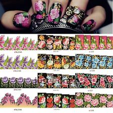 Womens Beautiful Flowers Nail Art Nail Decals Water Transfer Stickers Decoration