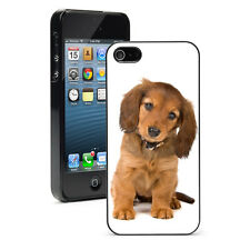 For iPhone 4 4S 5 5S 5c 6 6s Plus Hard Case Cover 13 Long Hair Dachshund Dog