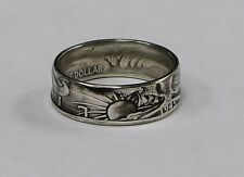Coin ring made from  Silver Walking Liberty Half Dollar sizes  9-14 (1940-1946)