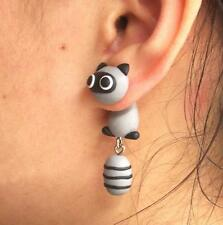 NEW Fashion 1 PAIR Cute Lovely coon Earrings Studs polymer clay earrings