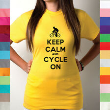 Keep Calm And Cycle On Bike Exercise Critical Mass Bicycle Pedal T Shirt R12