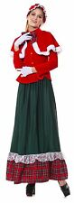 Sexy Adult Charles Dickens Womens Santa Ladies Caroling Costume Dress Sz M-XL