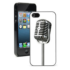 For iPhone 4 4S 5 5S 5c 6 6s Plus Hard Case Cover 997 Vintage Silver Microphone