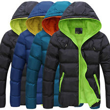 FASHION MENS WINTER OUTWEAR WARM HOODIE JACKET PARKA PADDED COAT OVERCOAT
