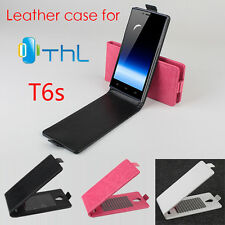 "New Flip Protective Leather Case For 5.0"" Thl T6s T6s Pro Android Smartphone U-D"
