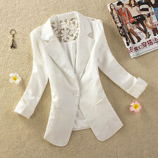 New Womens Ladies Stylish Lace Suit Coat Jacket Blazer Size 6 8 10 12 14 16